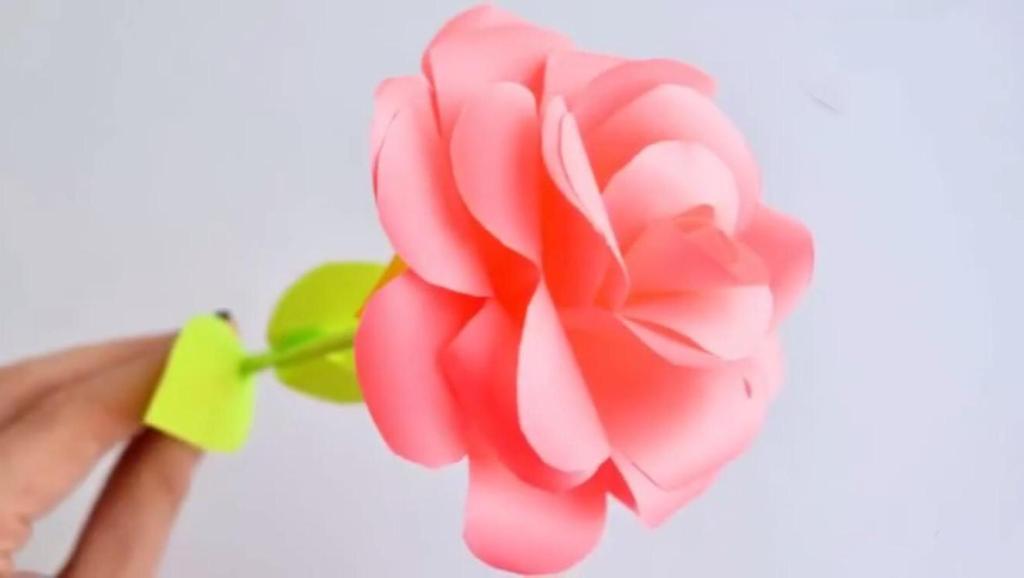逼真手工玫瑰花,浪漫优雅的化身,折纸视频教程