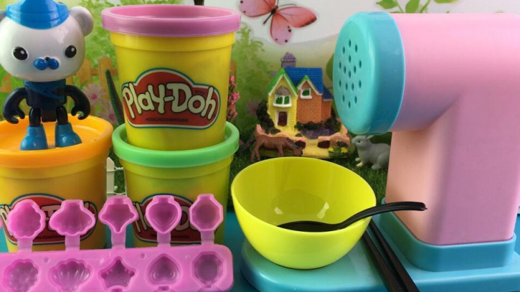 海底小纵队制作彩泥黏土玩具