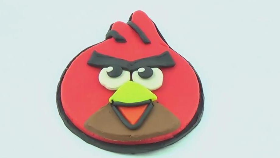 趣味儿童玩具 打开 培乐多橡皮泥手工教程愤怒的小鸟,益智育儿玩具