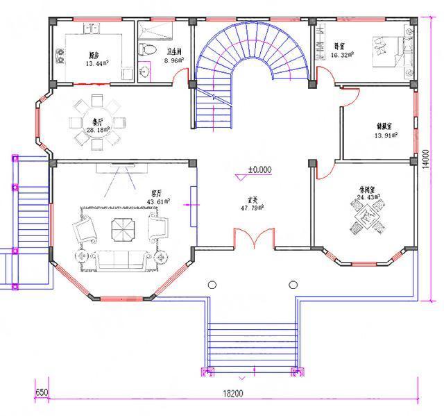 休闲室7卧6卫轻奢别墅全套施工图