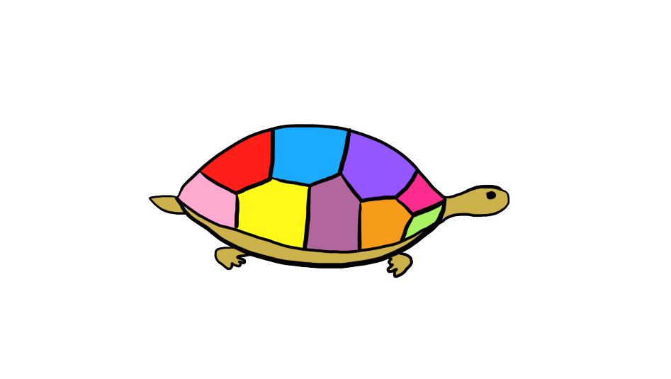打开 打开 用不一样的方法画一只彩色的小乌龟丨简单画小动物,亲子图片