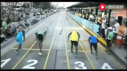 博尔特和普通人跑100米,这差距真恐怖啊