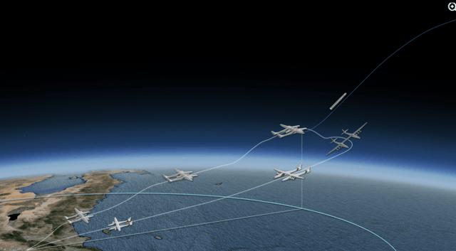 按照设计,它可外挂火箭或太空飞行器至高空,然后火箭或太空飞行器点火