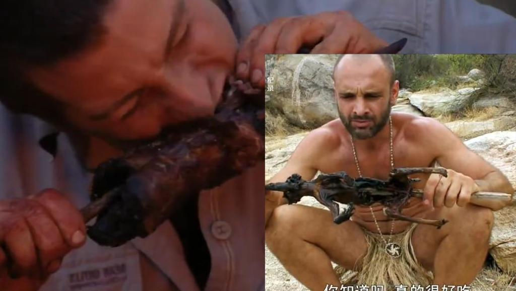贝爷和德哥都烤臭鼬吃,差别怎么这么大呢!