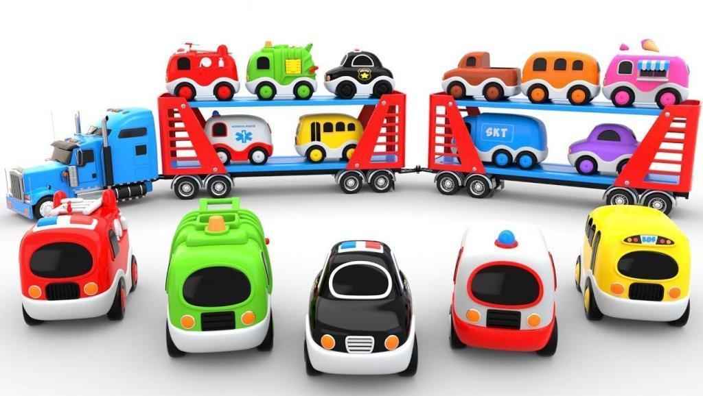 婴儿学英语 汽车转运玩具 为了孩子3D视频 惊喜视频 【 俊和他的玩具们 】