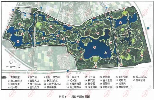 矩形滨水景观设计平面图