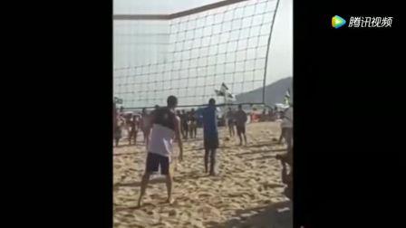 考辛斯杜兰特格林巴特勒里约海边打沙排
