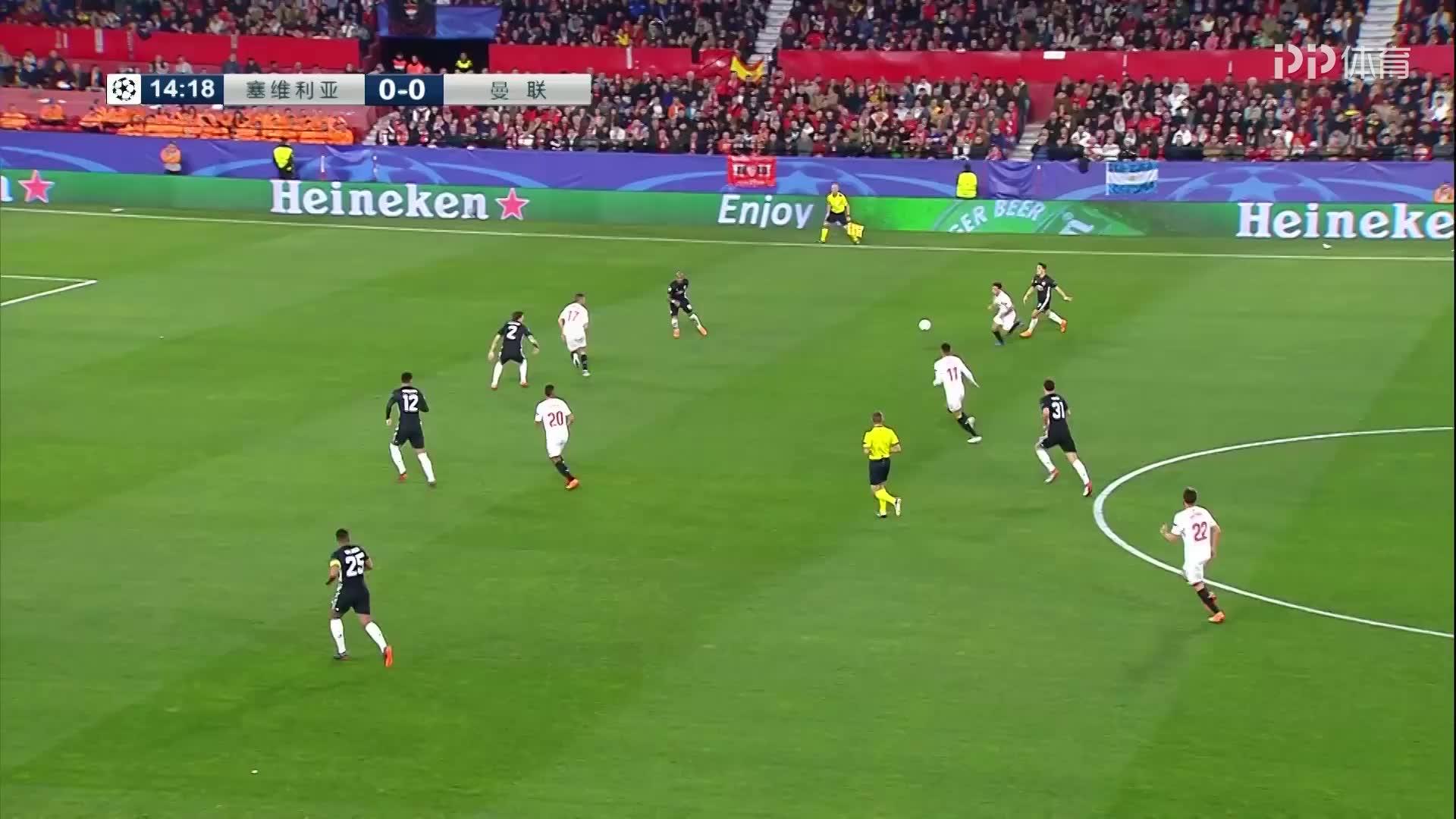 欧冠-1718赛季-淘汰赛-八分之一决赛首回合-塞维利亚0: 0曼联-精华(孙雷 贾天宁