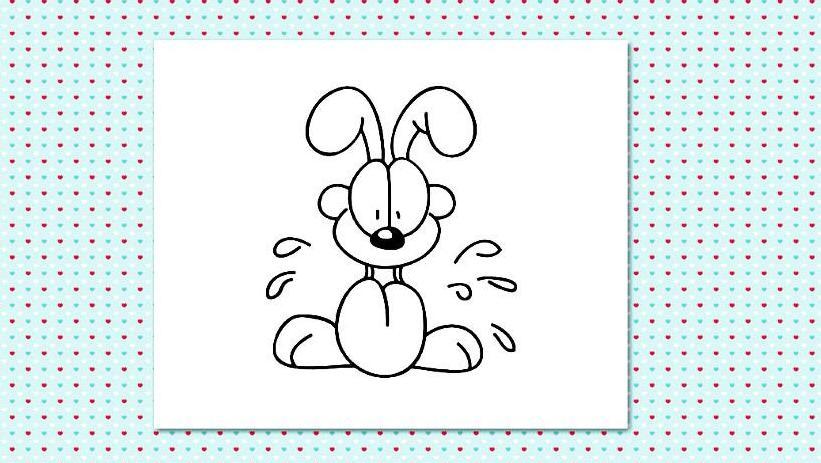 动画片加菲猫的幸福生活简笔画 学画加菲猫