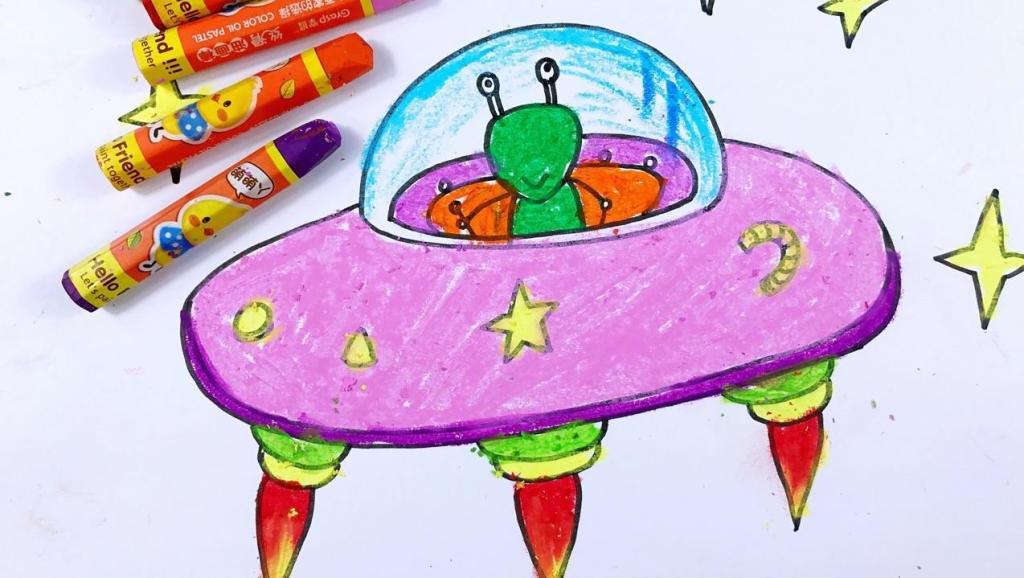 打开 简笔画教程外星人来了 打开 你看过有飞船,外星人的科幻古装剧