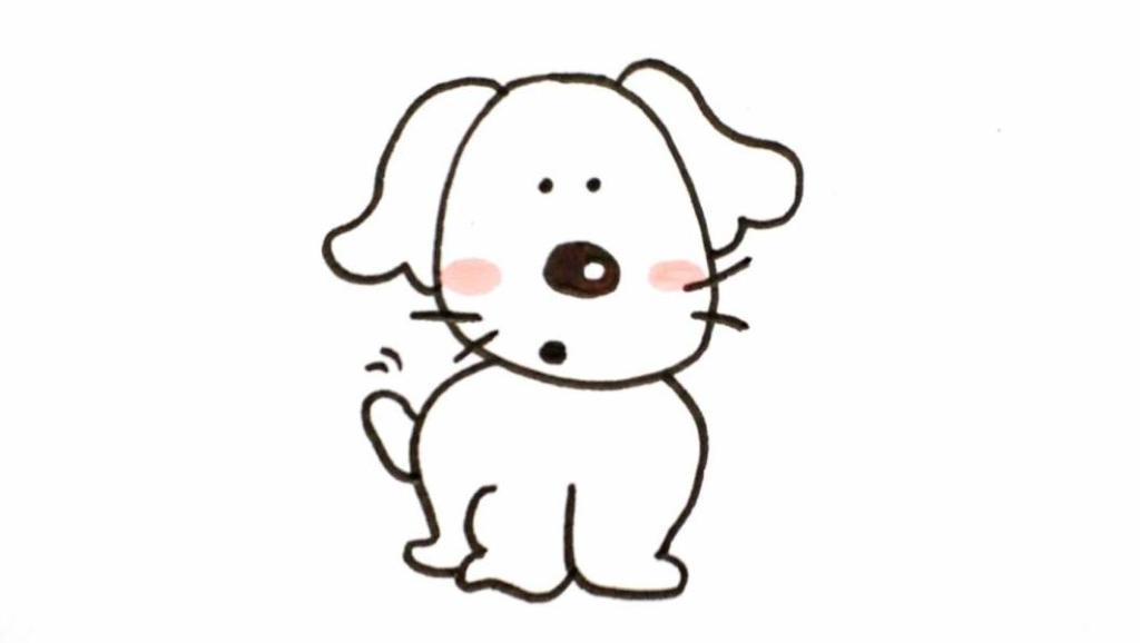 狗画画图片简笔画_狗怎么画简单漂亮