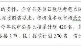 河北公务员笔试时间为5月18日 预计扩招...... 重磅消息!