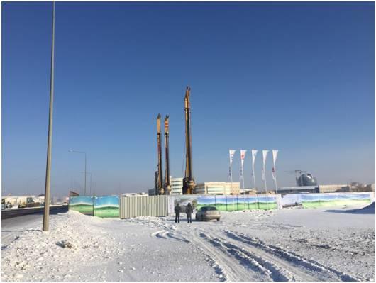 中国承建哈萨克斯坦第一条轻轨 施工挑战零下50°低温