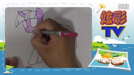 小猫坎迪简笔画步骤,亲子绘画游戏幼儿创意手工,小猪佩奇的朋友 打开