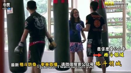 泰拳女汉子装作软妹子 健身房玩搏击狂虐教练