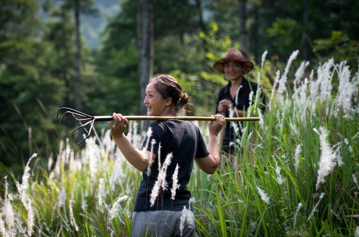 在城市奔波劳累的小景跟着丈夫搬进深山,过地道的农民生活。