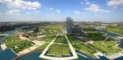 红岛高新区拟建390米双子塔超高层综合