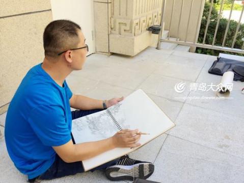 画家眼中的青岛国际院士港长啥样? 11月见! (组图)