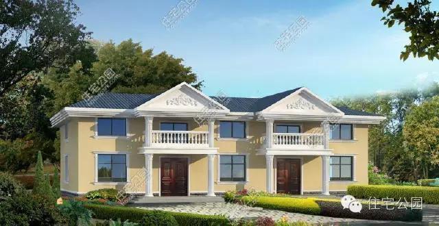 8米,是一栋经济型别墅,外观按照简欧的风格进行自建,罗马柱,阳台,坡