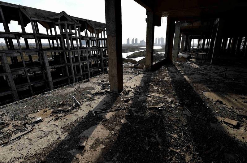 安徽省淮南市寿县新桥阳光半岛, 仅剩几个老人看守