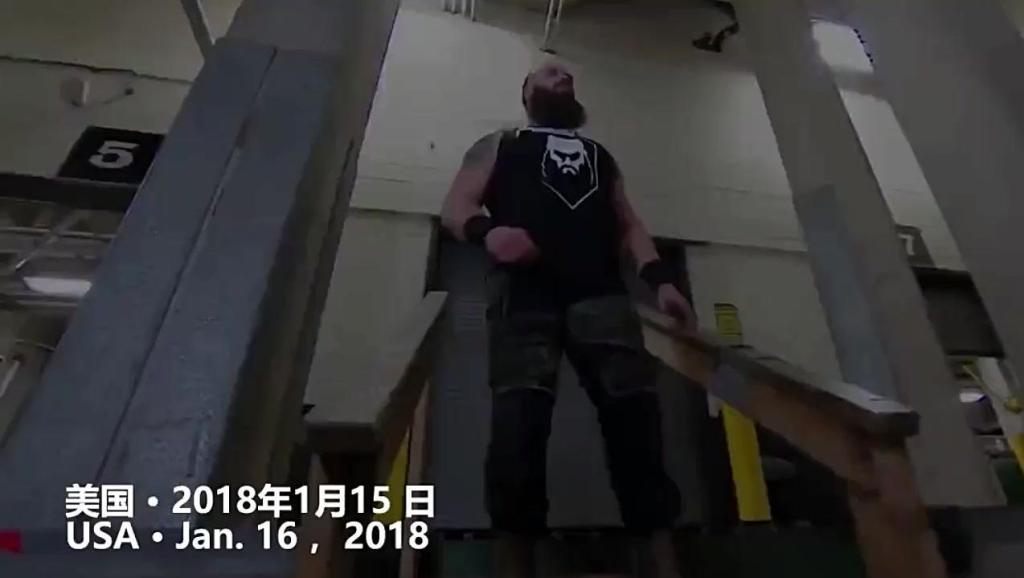WWE: 布朗·斯图曼展现恐怖力量,徒手掀翻1200万美刀重卡!这还是人吗?