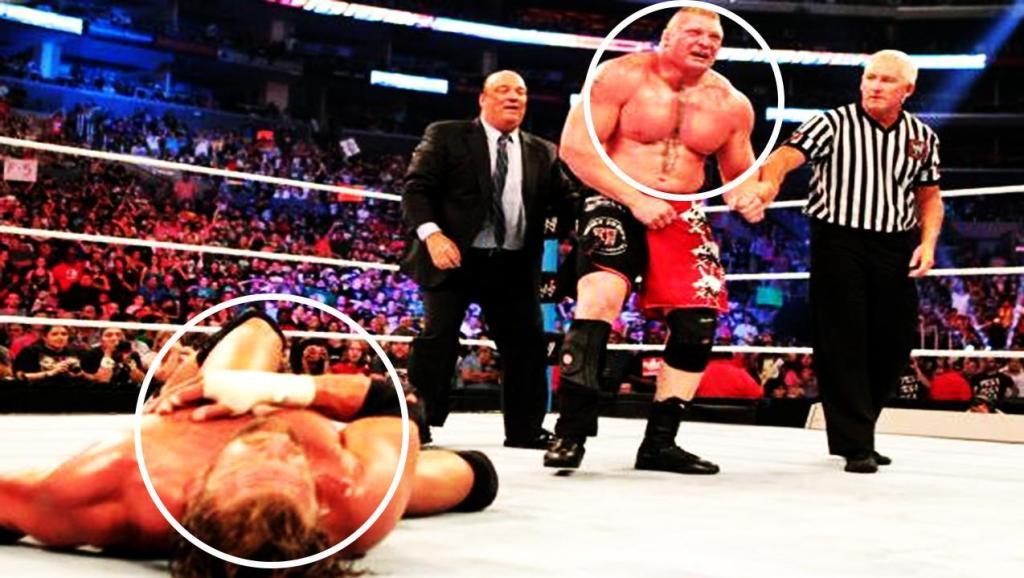 WWE最残暴的地狱牢笼之战,大布炸弹摔HHH,自己膝盖受伤!