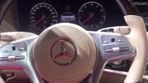 美女体验新款奔驰S级迈巴赫,这方向盘可以买下一辆宝骏