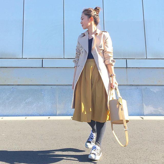 """黄色半身裙_黄色半身裙×灰色""""的最强组合"""
