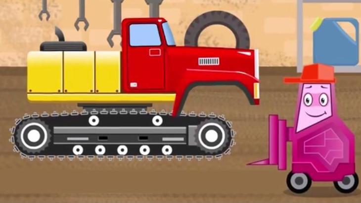 汽车总动员之修理机器人: 捣蛋的修理机器人给挖掘机卡车的车头,铲车的工作臂