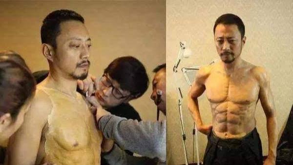 同是影帝, 一个花了9个月练肌肉, 而另一个人的肌肉是贴出来的