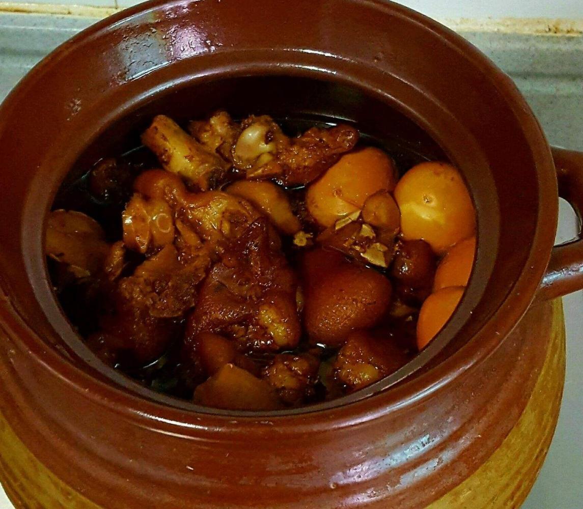 广东人教你做猪脚姜, 简单易做, 天气寒冷, 女人们要多吃一些