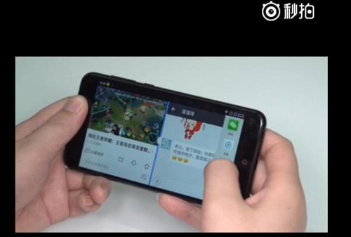 另一半屏幕上则进行了多样的操作——微信聊天