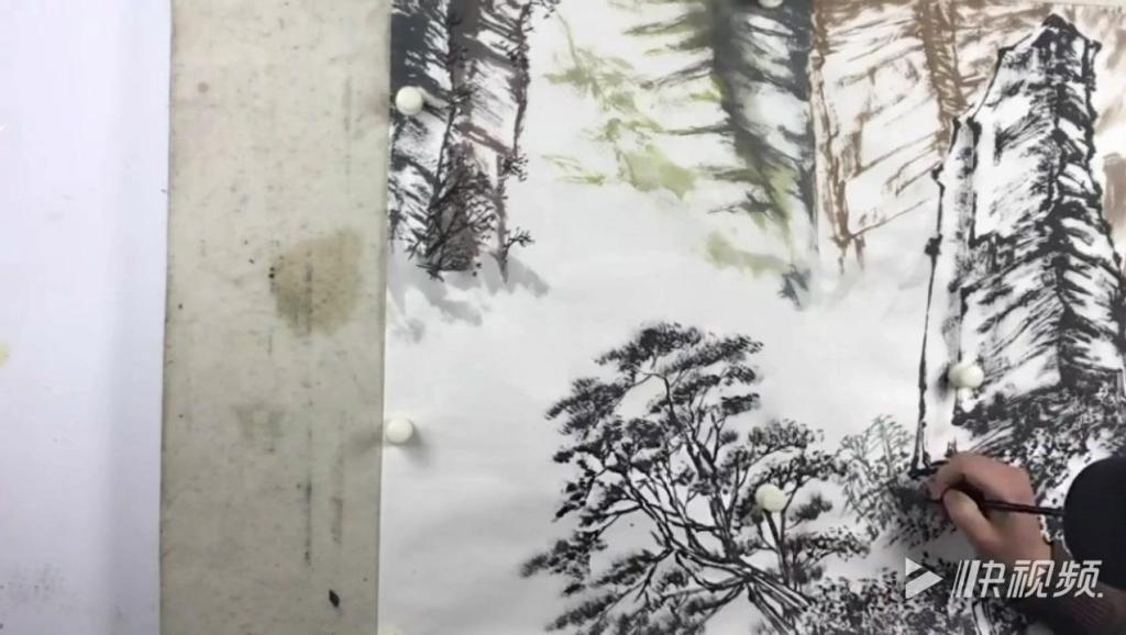 【全集】曾剛國畫山水技法_余傳寶山水畫技法視頻