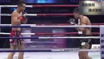 多次KO中国拳手的泰拳王遭中国小将重拳KO,直接打出场外