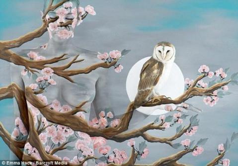 动物手型彩绘孔雀