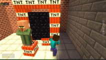 我的世界史蒂夫把校长放在TNT传送门上面,引爆TNT会有多刺激