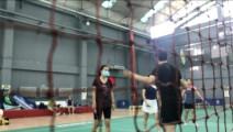 新人羽毛球练习!