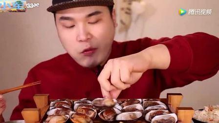 韩国大胃王豪放派吃海鲜米饭, 这样吃饭的感觉真香