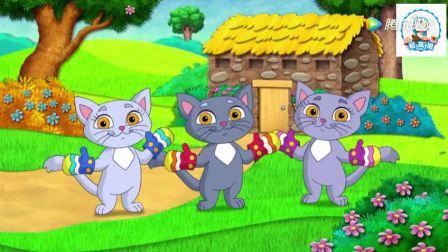 爱探险的朵拉 朵拉给小吉读童谣故事书,三只小猫咪的故事