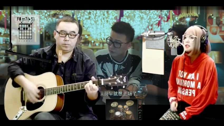 [牛人]教程现场版_青春郝浩涵美女高清自学吉弹唱吉他完全图片