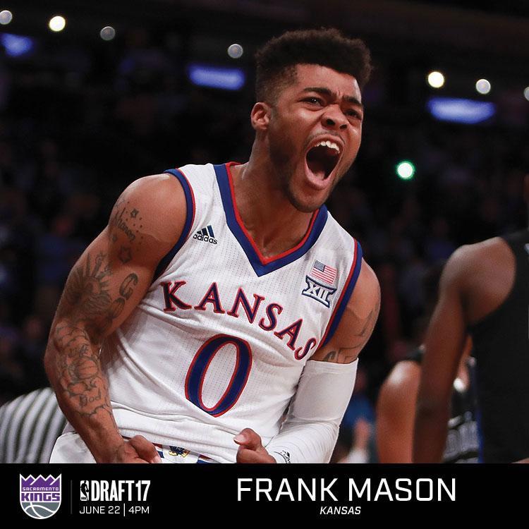 弗兰克-梅森,来自堪萨斯大学,司职后卫,身高1米83,体重86kg,本赛季场