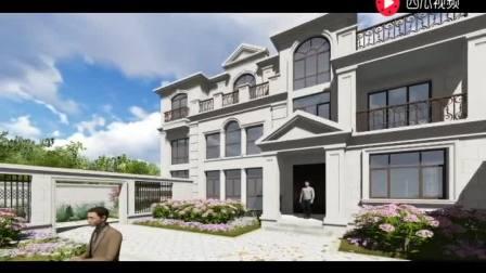 三层别墅外观效果图 农村房子设计图平房