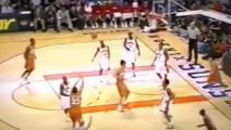 看看日本第一个NBA球员是怎么打球的,进球后解说激动到要疯了