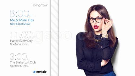时尚女性网络电视娱乐节目包装设计ae模板电视广播栏目包装mg图型转场