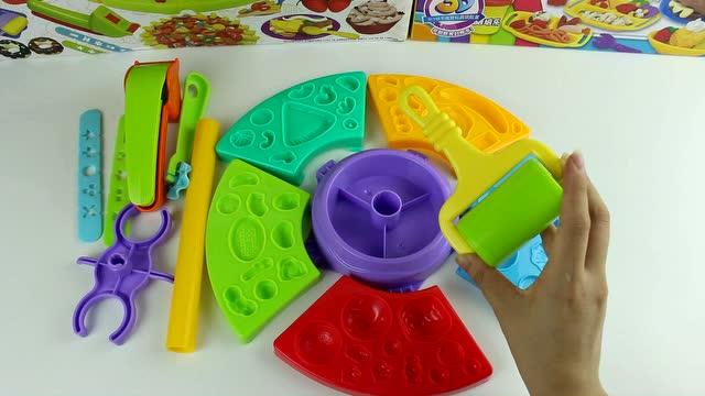 培乐多彩泥橡皮泥玩具做披萨甜点蛋糕水果冰淇淋 135