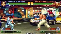 拳皇98 第一次看到疯七枷社的59连 对手说你能让我起来不