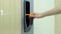 三星研发的电子锁,不用钥匙不用锁,小偷想撬门都找不到钥匙孔!