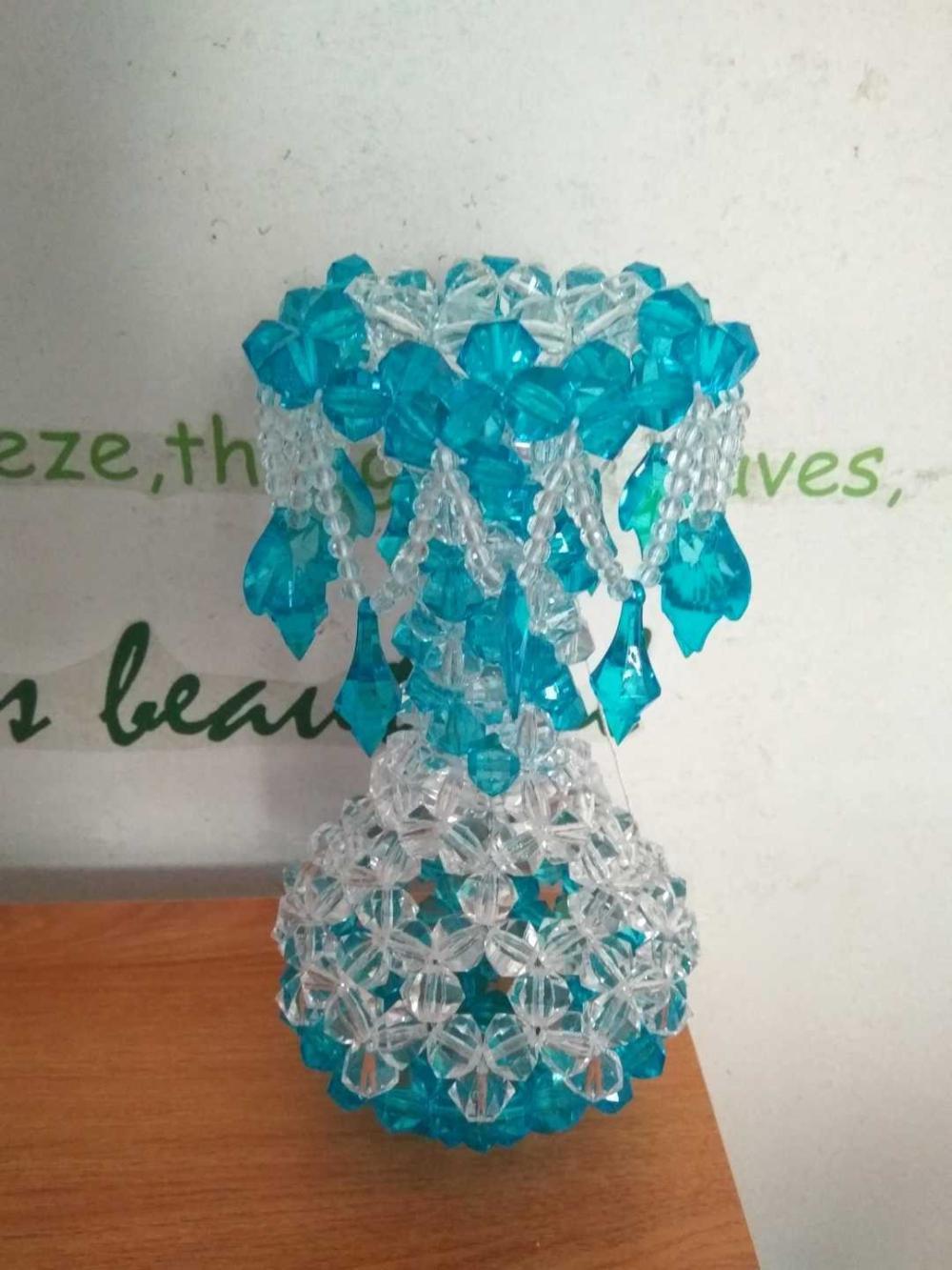 一瓶多用的diy手工串珠吊坠花瓶