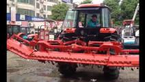 农村牛人自主研制,360度折叠的旋耕机,自动化程度牛了