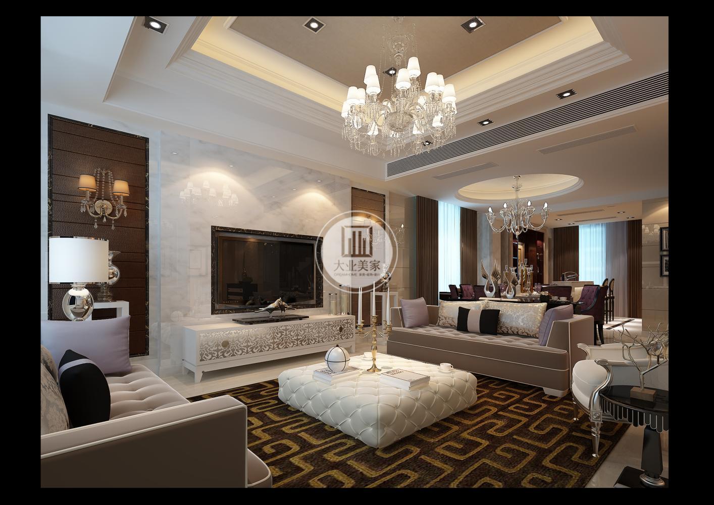欧式新古典丨无锡银河湾300㎡别墅装修设计案例